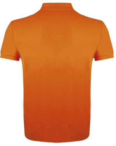 3dc7a751247ca70 Рубашка поло мужская PRIME MEN 200 оранжевая - dk-print48.ru